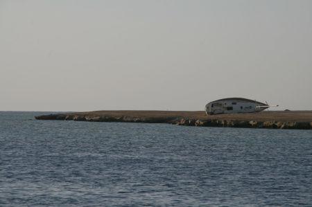 .... diesem deutsche Segelboot vor etwa einem Jahr in der Einfahrt passiert ist.