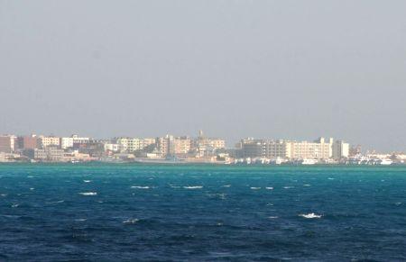 Hurghada in Sicht.