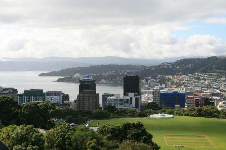 vom botanischen Garten aus haben wir eine herrliche Ausicht über Wellington