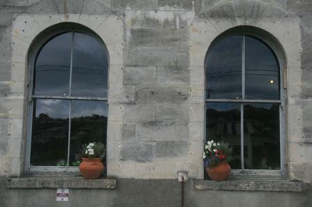 Schöne Fensterfronten.