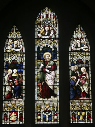 Die ChristchurchCathedral hat schöne Kirchenfenster.
