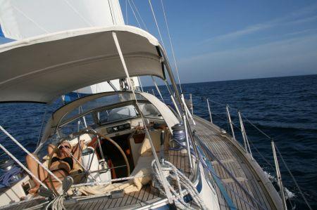 So schön kann segeln sein - der Autopilot steuert!