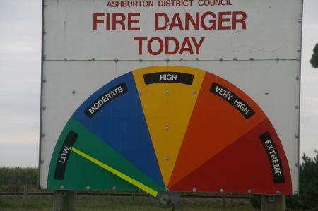 vor der Brandgefahr gewarnt wird.
