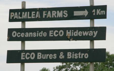 Bures (kleine Haeuschen) zu vermieten und ein Bistro gibt es auf der Farm.