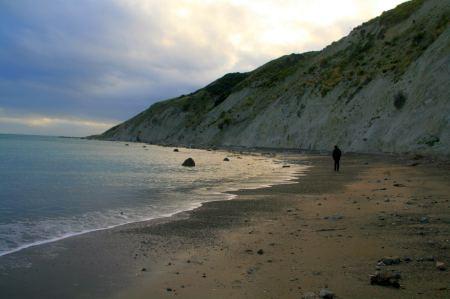 Vor der Weiterfahrt machen wir noch einen Spaziergang am Strand ....