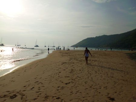Am Nachmittag baden und am Strand spazieren und ....