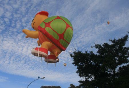 den lustigen Heißluftballons.