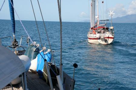 Rückweg nach Cairns. Die Golden Tilla gibt uns Lenkhilfe.