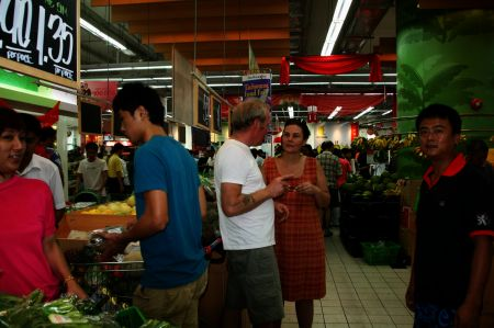 Im Supermarkt.