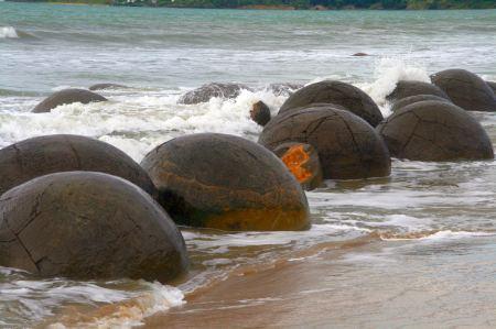 Sieht toll aus, lauter runde Steine
