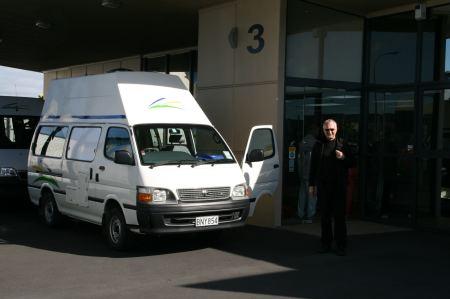 In Auckland nehmen wir den Camper in Empfang